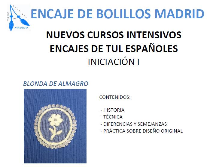 Cursos intensivos encaje de bolillos madrid for Cursos de interiorismo madrid